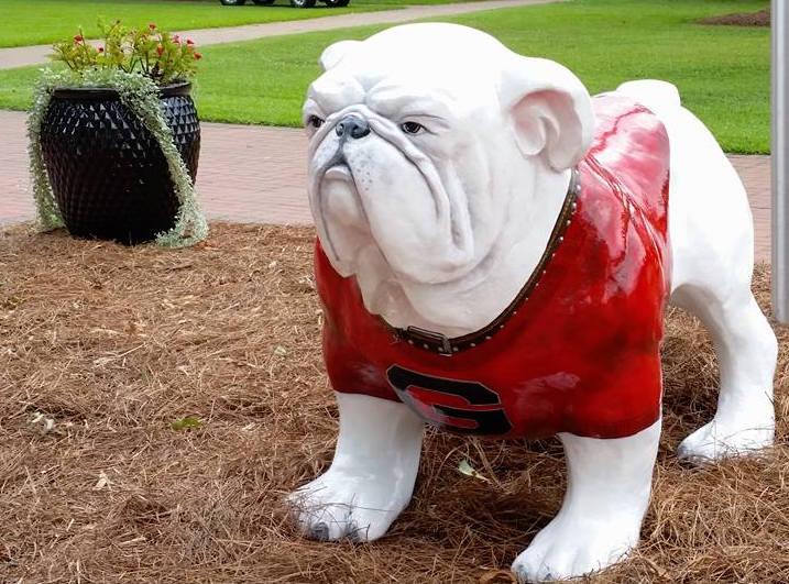 "Fabulous UGA Griffin Campus adds bulldog statue, renovates ""Big G  HN57"
