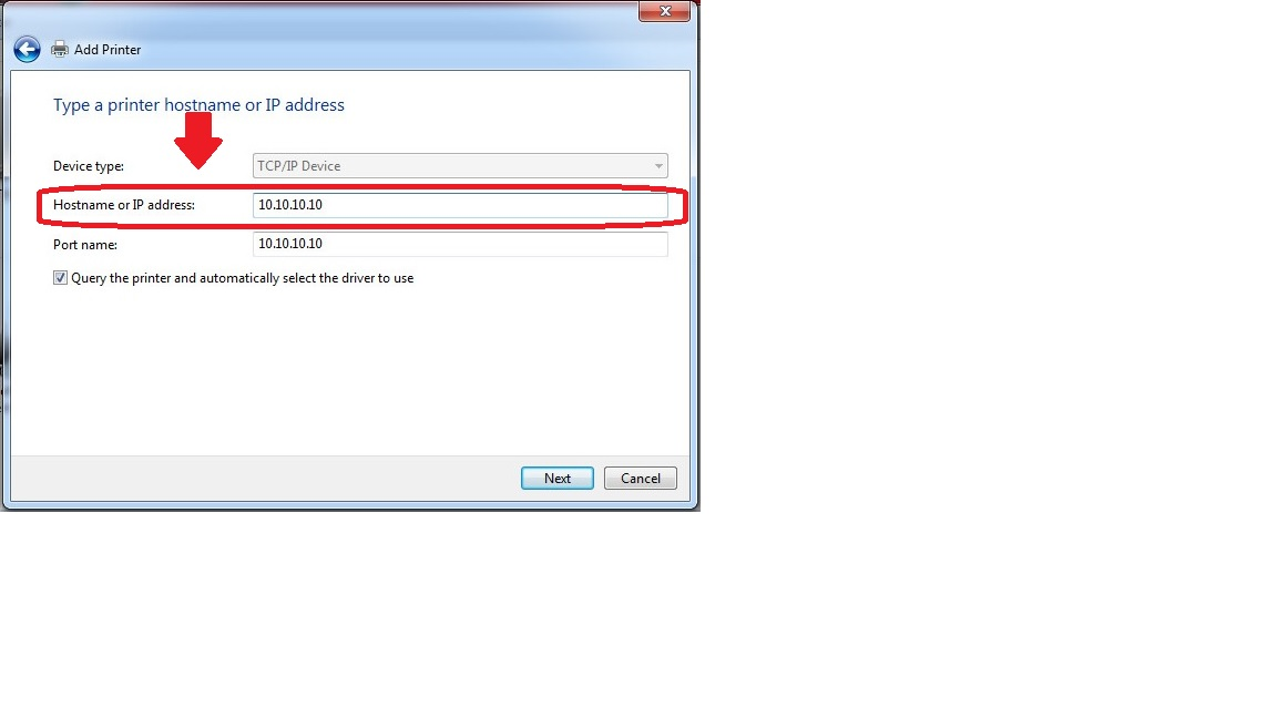 how to find printer ip address windows 7