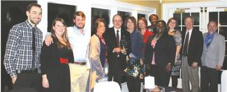 Photo of University of Georgia team members attending the 105th Griffin Spalding Chamber of Commerce Annual Dinner