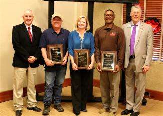 Photo of 2019 Classified Employees of the Year for UGA Griffin