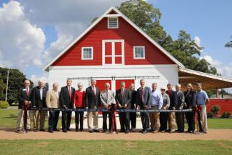 UGA officials cut the ribbon to dedicate the renovation of the Dundee Cafe on the UGA-Griffin campus on Oct. 4.