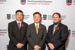 Photo of 2018 DW Brooks Winners pictured left to right Jack Huang, Yen-Con Hung, and Dan Suiter