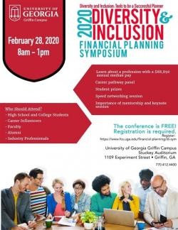 Flyer for the 2020 Diversity and Inclusion Financial Planning Symposium