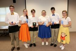 Members of the first place Spalding County 4-H Food Product Development Team