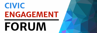 Image displaying event title, Civic Engagement Forum