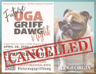 Image of UGA Griff Dawg Night cancellation notice