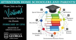 UGA Griffin is holding a virtual information session aimed at homeschoolers seeking admission to UGA
