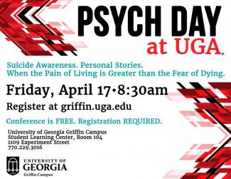 Psych Day at UGA Flyer.  Event date Friday, April 17th, 2020