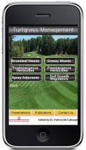 Screenshot of Patrick McCullough's Turfgrass Management app